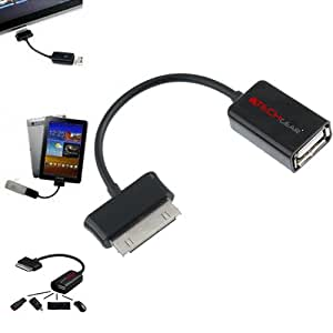 TECHGEAR® - OTG USB Adapter Cable for Samsung Galaxy Tab 2 10.1 P5100 & P5110 - On The Go 30 Pin to Female USB Adapter