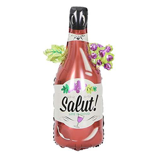 H Kostüm Buchstabe - bloatboy  1PC Kreative Weinglasflasche Aluminiumfolie Ballon Hochzeit Geburtstag Bier Party Decor (H)
