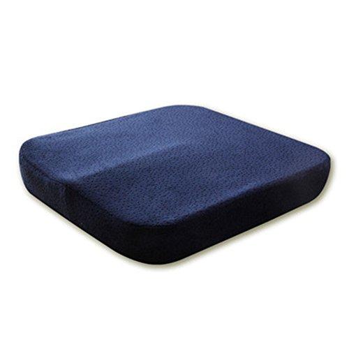 YLCJ Memory-Schaumstoff-Kissen für rutschfeste Sitzfläche, Entlastung der Ischia-Rückenlehne, perfekt für Bürostuhl und Rollstuhl, atmungsaktives waschbares Futter, 40 x 40 x 6 cm, (Rollstuhl Kostüm)