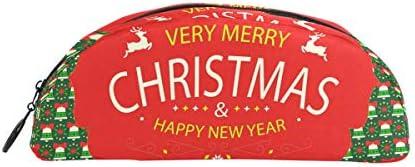Bonipe Merry Christmas Vert Vert Vert Rouge Boule de Bell Motif Trousse Stylo Sac étui support Porte-monnaie Maquillage pour Trave Bureau | Nous Avons Gagné Les éloges De Clients  9e1237