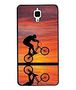 PrintVisa Designer Back Case Cover for Redmi Mi4 (cycle riding picture perfect shot )