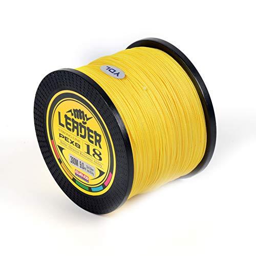 SXSHUN 8-Fach Geflochtene Premium PE Angelschnur 500m, Gelb, 2.5 (0.25mm/16.1kg)