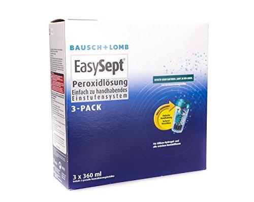 Kontaktlinsen Lomb Und Bausch (Bausch Lomb EasySept 3-Pack Pflegemittel für weiche Kontaktlinsen, 3 x 360 ml)
