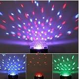 DUSIEC Crystal Magic Ball Diskokugel LED RGB Effektlampe DMX ideal für Disko, Ballsaal, Barm Bühne, Club, Party etc.