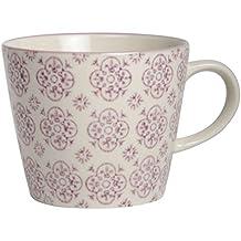 IB LAURSEN - tasse a cafe gres fleurs mauves casablanca ib laursen 1562-06