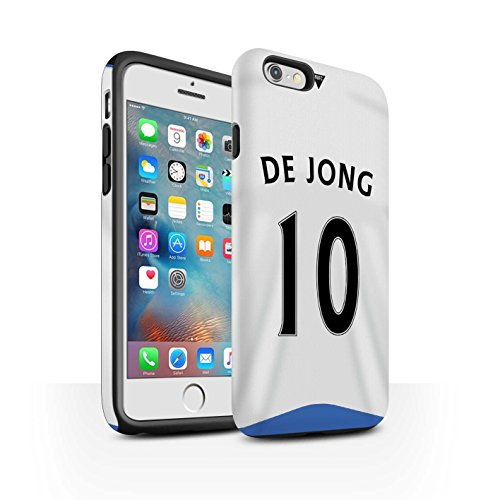 Offiziell Newcastle United FC Hülle / Matte Harten Stoßfest Case für Apple iPhone 6+/Plus 5.5 / Pack 29pcs Muster / NUFC Trikot Home 15/16 Kollektion De Jong