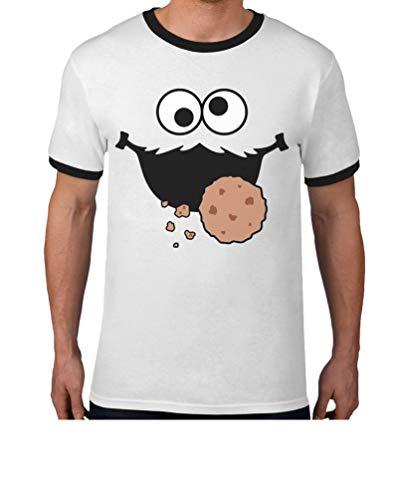 Karneval & Fasching Keks-Monster Krümel Kostüm Herren T-Shirt Small ()