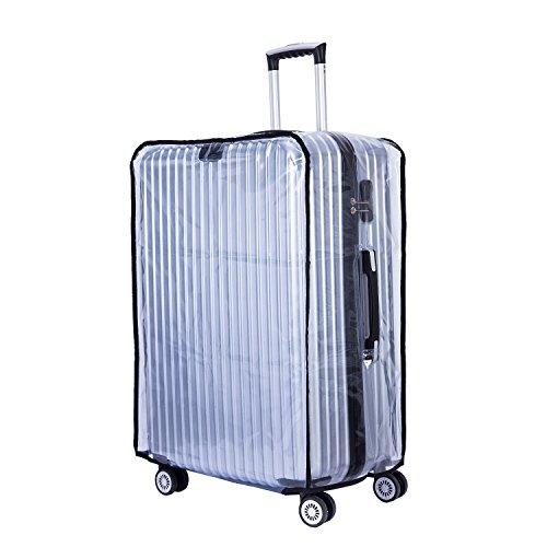 "CSTOM (Transparent PVC) Luggage Koffer Cover Einfach Kofferbezug Kofferschutzhülle Kofferschutz 20"" Bags (33-35cm L x 21.5-23c..."