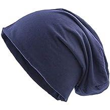shenky - Cappello uomo lungo in jersey - primavera estate - blu navy 9457912bb20c