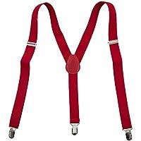 SODIAL(R) Correas - 37x1 Inch de Hombres Rojo