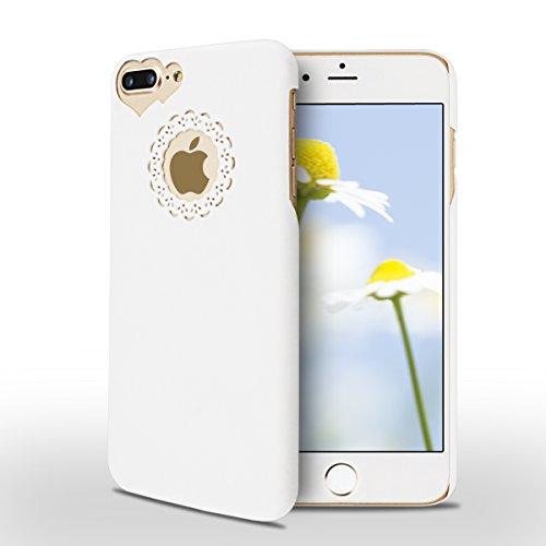 iPhone 7 Plus Hülle, SpiritSun Transparent Schutzhülle für Apple iPhone 7 Plus Hülle (5.5 Zoll) PC Hart Handyhülle Extrem Dünne Bumper Cover mit Stylus Pen - Violett Weiß
