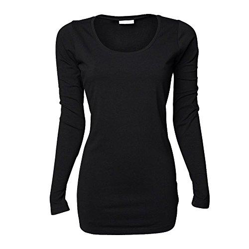 Tee Jays - Ladies Stretch Longsleeve Extra Lang Black