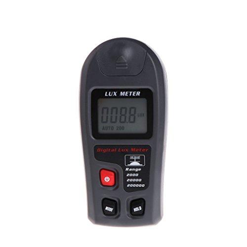 BIlinli Luxómetro Digital 0.1~200000Lux Medidor de luz Sensor Gran Pantalla LCD Fotómetro