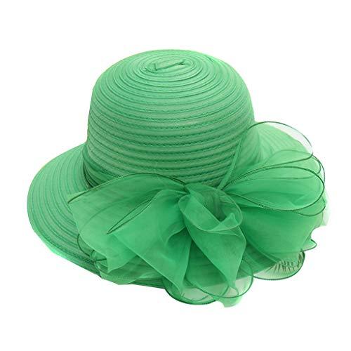 Moonuy Frauen Erwachsene Hut Kirche Derby Kleid Fascinator British Tea Party Hochzeit Hut Brautmütze für Outfits -