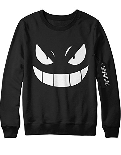 Sweatshirt Pokemon Go Gengar Team Rocket University Jessie James Mauzi Kanto 1996 Blue Version Pokeball Catch 'Em All Hype X Y Nintendo Blue Red Yellow Plus Hype Nerd Game C210014 (Kostüm Team Von Jessie Rocket)
