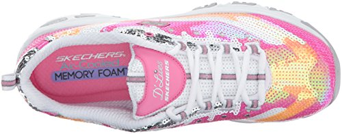 Skechers D'Lites-Made To Shine Synthétique Baskets Pink-White