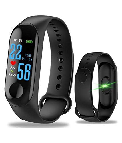 Rednix M3 Smart Fitness Band Activity Tracker with Heart Rate Sensor(Black)