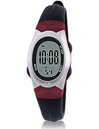 Reloj electrónico digital de múltiples funciones de los ni?os,Jalea led 50 m resina resistente al agua correa alarma cronómetro chicas o chicos moda reloj de pulsera vintage-C