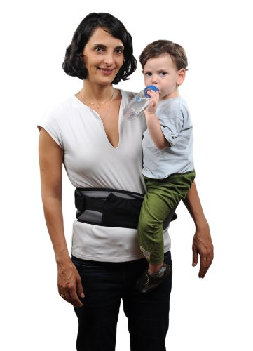 Pomfitis Carry G8766Baby Belly Waist Strapless Black Pomfitis LTD No more back pains from carrying your baby around! The Side Ride is a back supporting belt with an integrated child seat The Side Ride distributes your baby's weight evenly, reducing the strain on your spine, shoulder and arm 4