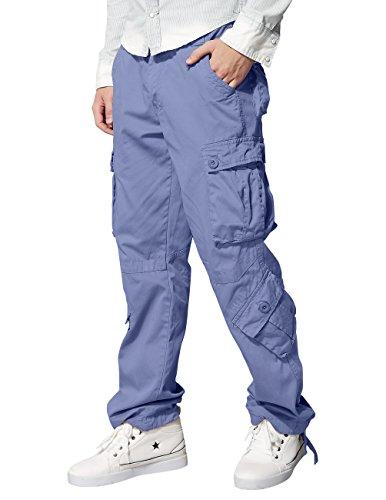 Match 3357 - Pantalones Cargo Para Hombre(Gris (3357 Bluish gray),42W x Regular (ES 52))
