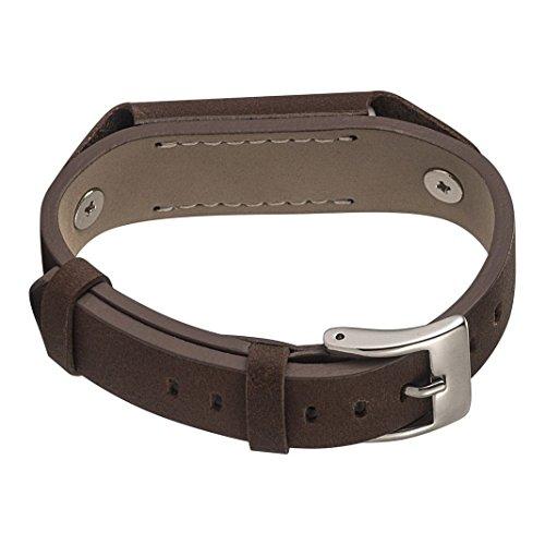 Fitbit Flex 2 Uhrarmband,Fitbit Flex 2 Leder Bands, Damen/Herren armbänder Braun Leder Uhrarmband,Leder Metall Schließe UhrArmband,Uhr Zubehör Armband Gurtband für Fitbit Flex 2 Fitness Tracker - Flex-leder