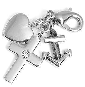 Charms Anhänger für Bettelarmband Anker; Herz und Kreuz von Collangé Jewelry®