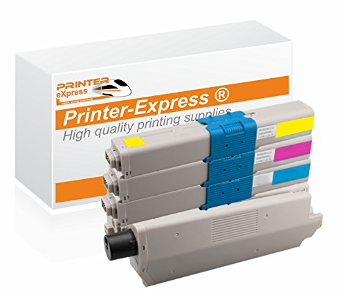 Oki Color Drucker (Printer-Express XL Toner 4er Set ersetzt OKI C301, C321, 44973536, 44973535, 44973534, 44973533 für OKI C301 C301DN C321 C321DN / MC332 MC332DN MC342DN MC342 MC342DNW Drucker)