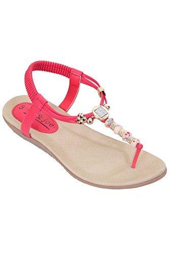 Fantasia Boutique, Sandali donna bianco White Pink
