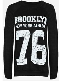 (womens long sleeved brooklyn 76 sweter) Femmes à manches longues Brooklyn 76 chandail