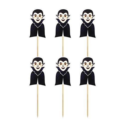 Fenical 12pcs Vampire Cake Topper Picks Papier Kuchen Dekor Party Supplies für Halloween Festival (Cake Pops Halloween Sie Für Dekorieren)