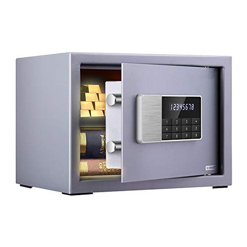 NO BRAND Caja Fuerte Antirrobo Pantalla LCD de hogar Seguro Blanca pequeña Mini Doble Pared de Acero...