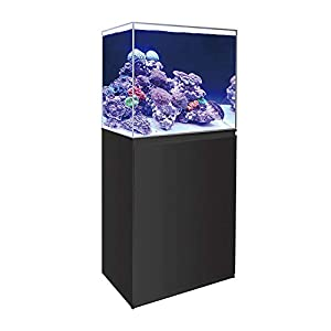 All Pond Solutions 80/150/250/300L Marine Aquarium Fish Tank & 45-120cm Cabinet Kits – Black & White Available (80L / 45cm Tank & Cabinet Kit, White)