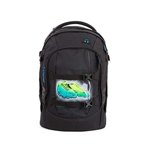 satch Pack Black Bounce, ergonomischer Schulrucksack, 30 Liter, Organisationstalent, Schwarz