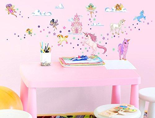 Wandsticker Kinderzimmer & Feen und Einhörner