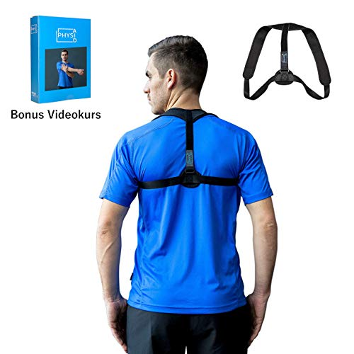 PHYSIAID® Haltungstrainer - Geradehalter zur Haltungskorrektur für eine gesunde aufrechte Körperhaltung + Bonus VIDEOKURS