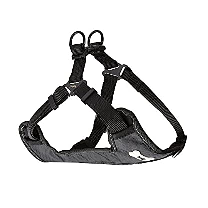 Bunty Soft Comfortable Breathable Fabric Dog Puppy Pet Adjustable Harness Vest - Black - Small 4