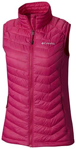Columbia Isolierte Weste (Columbia Damen Pulverpass Weste, isoliert, wasserdicht, Damen, Powder PassTM Vest, Haute Pink, Medium)