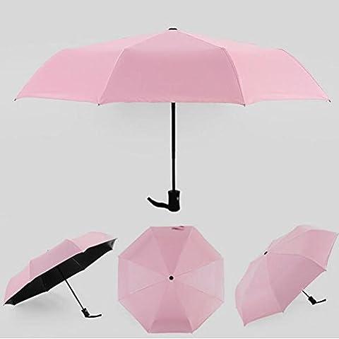 Folding Sun Shadingu Umbrella Wave Point Printing Black Glue Anti Ultraviolet Sun Umbrella , pink (black glue auto)