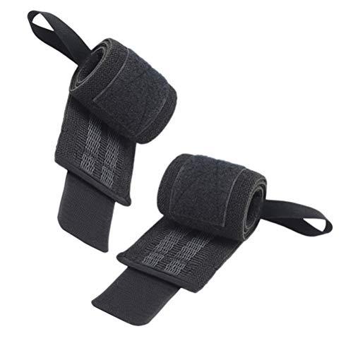 LIOOBO 2 stücke Sport Armbänder Elastische rutschfeste Wrist Wraps Bands Strap für Gewichtheben Fitness Gym (Linke Hand + Rechte Hand)