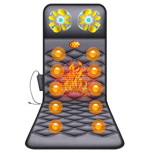 ENDJYO Massagematte Elektrisch Elektrisches Massage-Sitzkissen Faltbare Körper-Fixpunkt Massage Mit Mehreren Sitz- Und Liegemassagematten Für Den Heimgebrauch