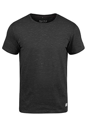 Blend Barnd Herren T-Shirt Kurzarm Shirt Mit Rundhalsausschnitt, Größe:XXL, Farbe:Black (70155)