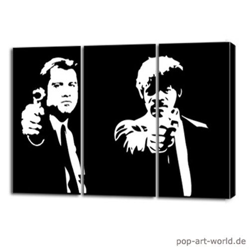 Pulp Fiction - handgemaltes Pop Art Gemälde - kein Kunstdruck!