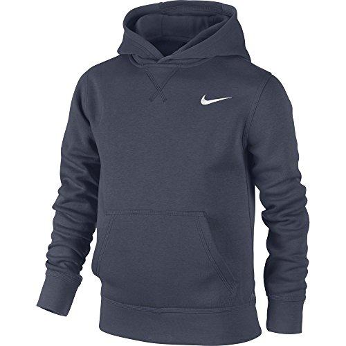 Nike Ya76 Nike Bf Oth Hoodie Yth Felpa, Blu / Bianco / (Obsidian/White), M