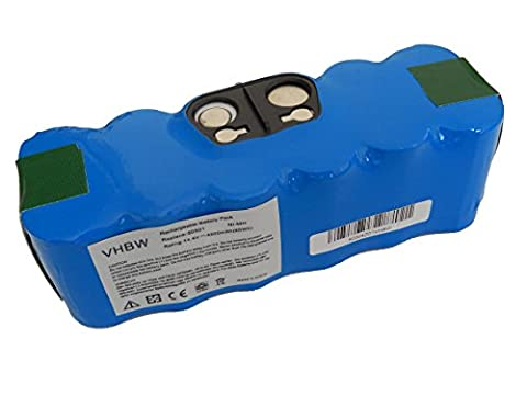 vhbw Ni-MH Akku 4500mAh (14.4V) für Staubsauger Saugroboter iRobot Roomba 866, 886, 900, 980 wie 11702, GD-Roomba-500, VAC-500NMH-33.