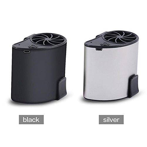 Condizionatore D'aria Mobile Cooler USB Waist Fan Raffreddamento Portatile Mini Vita Appeso Condizionatore D'aria Air Space Cooler Personale,Black