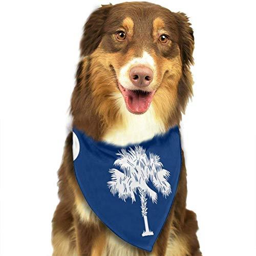 deyhfef South Carolina State Flag Dog Bandana Collars Triangle Neckerchief Bibs Scarfs Accessories Pet Cats and Baby Puppies Saliva Towel -
