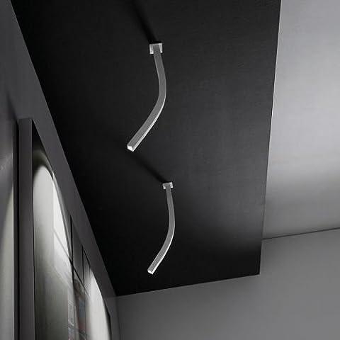 Linea Light Snake Aplique de Pared, 2 Luces LED 42 cm, Color Blanco.