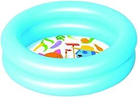Bestway Round 2-Ring Kiddie Pool, 61X15 Cm, Blue - 26-51061