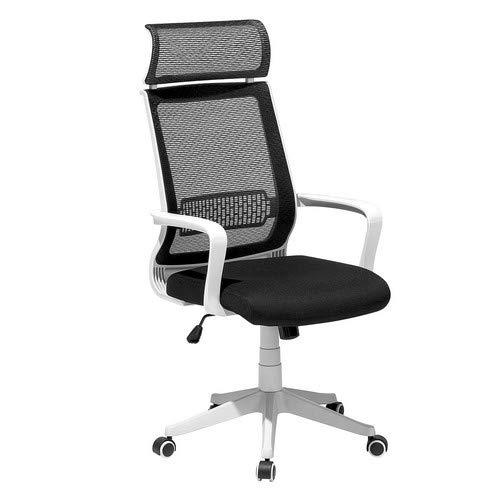 Chaise de Bureau - Fauteuil Design Noir Blanc Leader