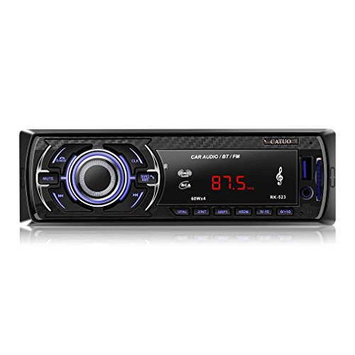 CATUO Navigationssystem Autoradio, CATUO Audio Stereo Receiver Bluetooth Audio Empfänger MP3 Player mit Freisprecheinrichtung, Unterstützung USB/AUX (MP3 RK-523)